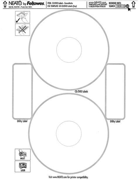neato by fellowes cd label template neato economatte white cd dvd label for inkjet laser printers 50sheets pack 100 labels 2up