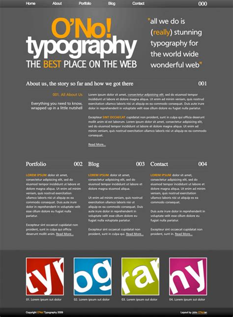 typography css free typographic xhtml css layouts for your designs