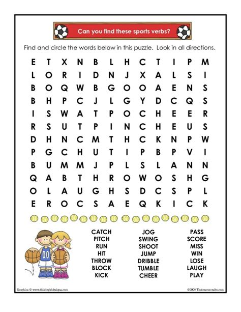 printable word searches verbs verbs in sports word search worksheet that resource site