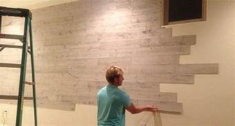 Fake Wainscoting Peel And Stick Wood Panels Provide An Instant Reclaimed