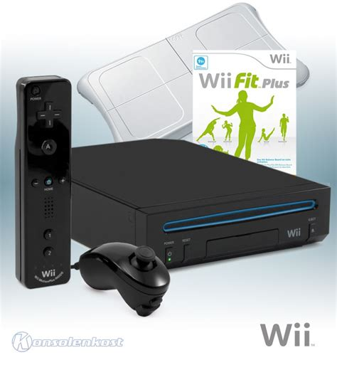 wii console wii fit wii console rvl 001 black wii fit plus official mote