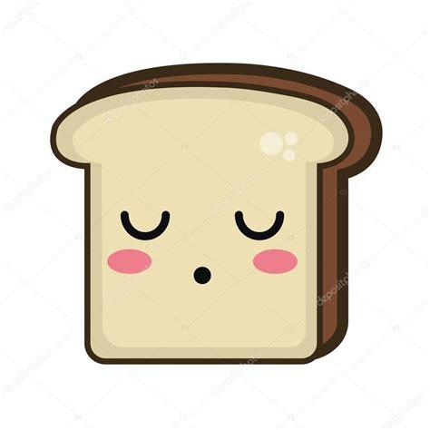 imagenes de la kawaii rebanada de pan kawaii dibujos animados vector de stock