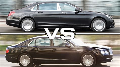 bentley maybach 2016 mercedes maybach s600 vs 2016 bentley flying spur