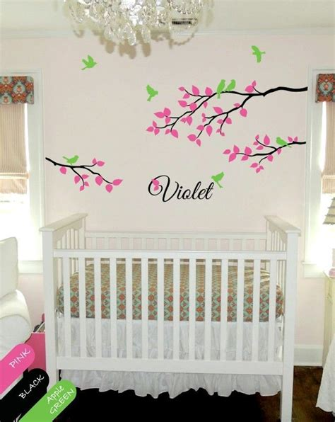 Monogram Wall Decals For Nursery Personalized Wall Decal Branch Nursery Monogram Decoration For Baby S Room Kr041 Ebay