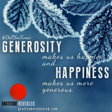 and generosity generosity gratitude revealed