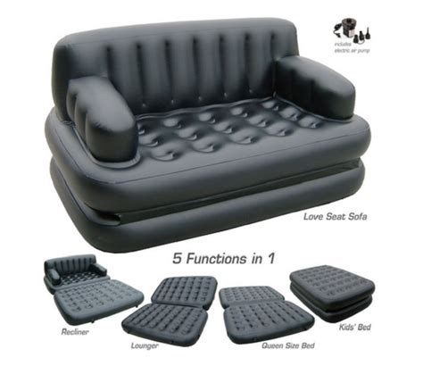 air mattress couch pure comfort 8510sb 5 in 1 sofa bed