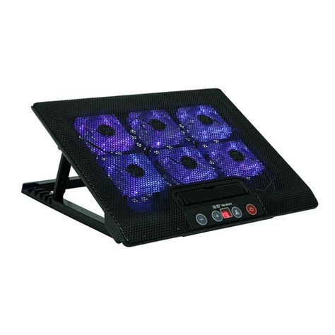 6 inch computer fan laptop cooler pad base led 2 stand for macbook 11