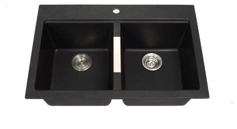 kraus kgd 433b dual mount bowl black onyx granite