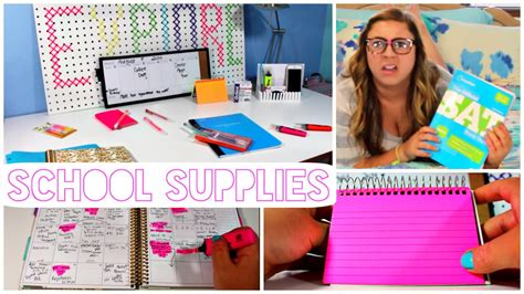 organization tips for college students back to school organization and study tips youtube