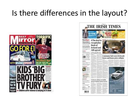 newspaper layout styles there are two common types of newspapers