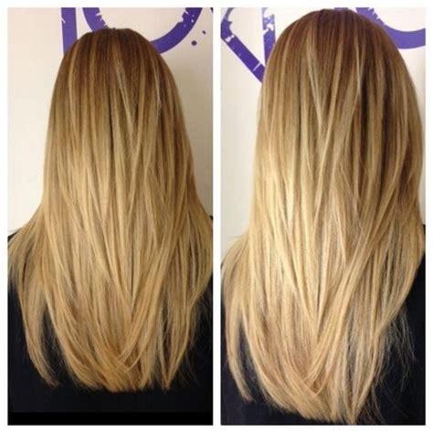 v shaped long layered v shaped haircut