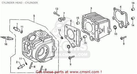 honda cd70b general export type 4 cylinder cylinder