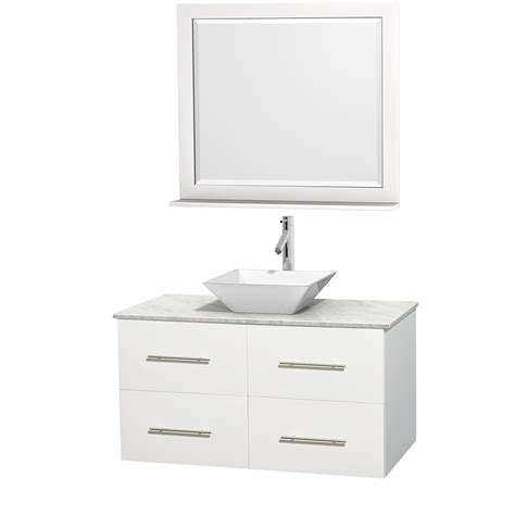 42 inch bathroom vanity wyndham collection wcvw00942swhcmd2wm36 centra 42 inch