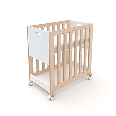 Oeuf Fawn Crib And Bassinet System Grey And Birch Bassinet To Crib Convertible