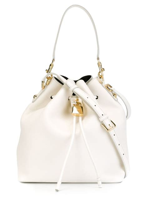 Dolce And Gabbana White Open Leather Bag dolce gabbana shoulder bag in white lyst