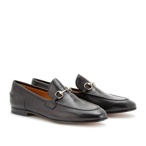 womens gucci loafers gucci leather loafers in black lyst