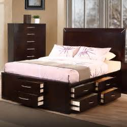 Bed With Drawers Underneath by Brown Bed With Plenty Drawers Underneath Decofurnish