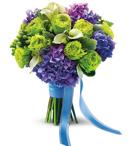 purple and green bouquet wedding flower page 2