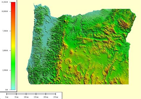 map of oregon elevation topocreator create and print your own color shaded