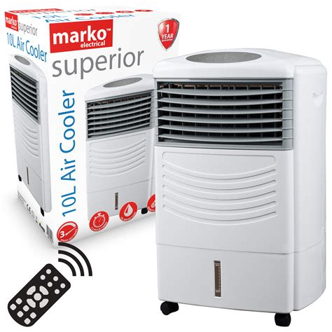 Portable Water 10l Tempat Air new portable evaporative 3 speed oscillating fan air cooler cold with timer 10l 163 74 99