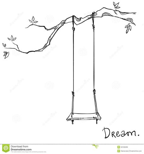 swing illustration tree with a swing stock vector image of branch park