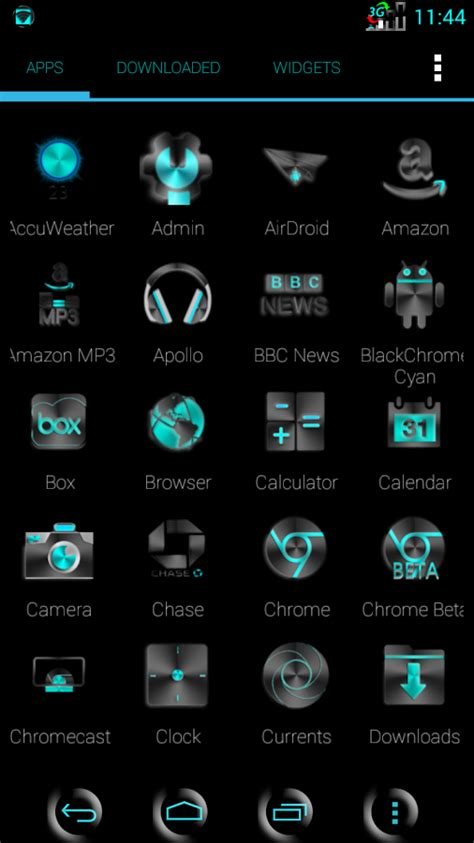 Launcher App Drawer Icon by Blackchrome Cyan Launcher Icon Android Apps On Play