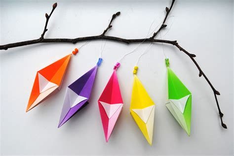 Hanging Origami Decorations - origami hanging decorations minieco