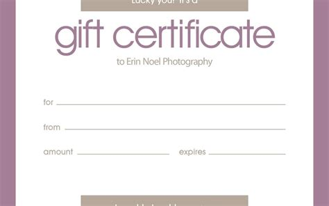 free birthday gift certificate templates for word