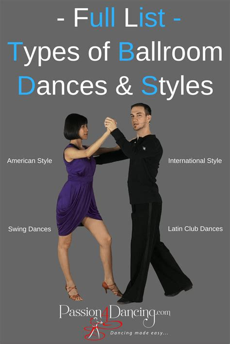types of swing dancing all types of ballroom dance styles 23 different