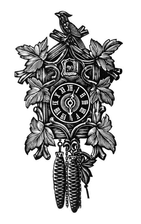vintage cuckoo clock free clip art old design shop blog