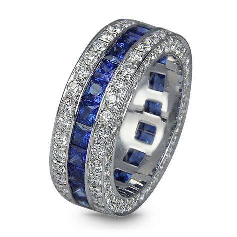 sapphire diamond wedding band jacob  timepieces