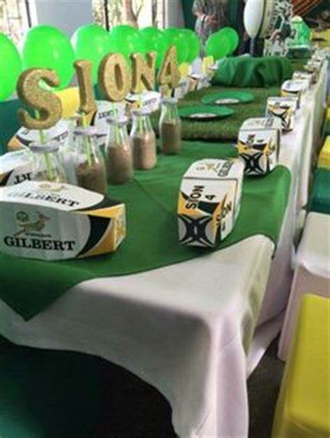 rugby themed events springbok party themed party pinterest parties