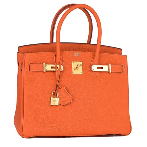 New Arrival Hermes Birkin Togo Combination hermes feu orange 30cm togo birkin gold hardware chicjoy