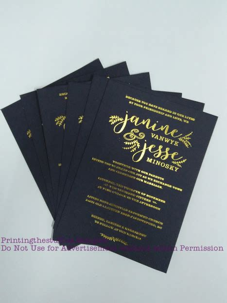 wedding invitation printing edmonton foil sting vinyl sticker printing