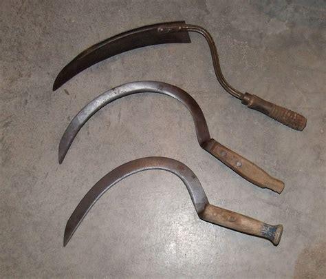 what is a sling blade tool vintage sling blade swing scythe sickle antique farm tool crop