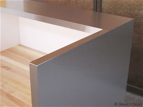 Metal Reception Desk Stainless Steel Reception Desk Glendon