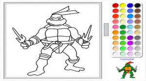 color free turtles coloring raphael for