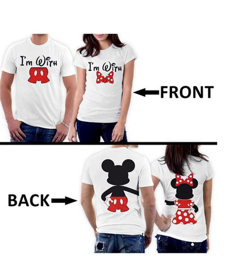 Matching Valentines Day Shirts For Couples 2016 New Arrival Couples Shirt Mickey Minnie Two Sided