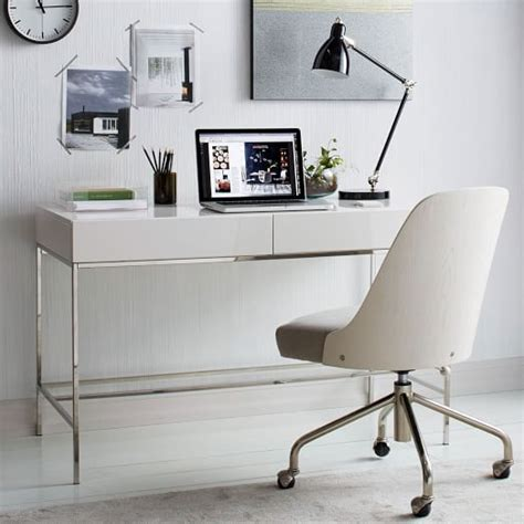 west elm office desk glam white desks for your home office in every style and