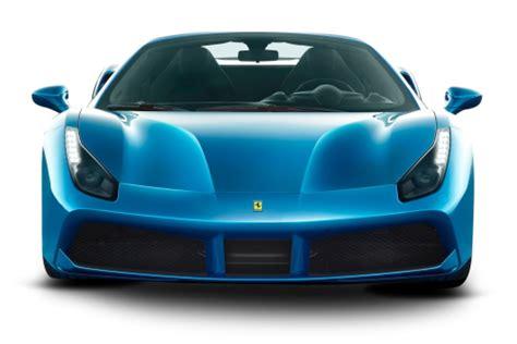 ferrari front png blue ferrari 488 spider car front png image pngpix