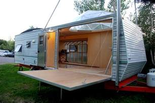 fema trailer turned into solar powered dubbed emergency response mad crafts diy craft room