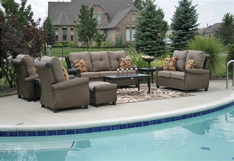 patio furniture seating sets giovanna luxury 9 all weather wicker cast aluminum