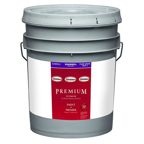 glidden premium 5 gal eggshell interior paint gln6000 05 the home depot
