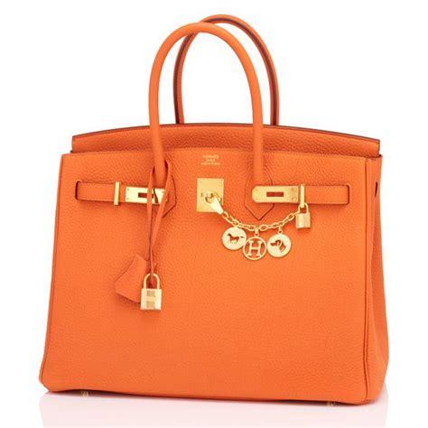 Classic Bag Hermes Birkin by Hermes Birkin Bag 35cm Orange Gold Hardware World S Best