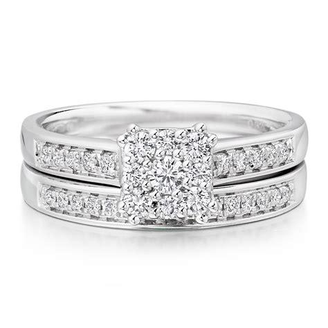 Wedding Ring Sets Uk by 18ct White Gold Engagement And Wedding Ring Set