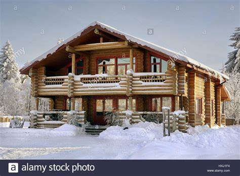 wooden log cabin modern log cabin wooden vacation home winter timber
