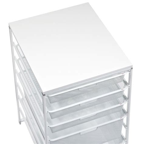 white elfa mesh dresser the container store