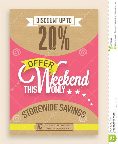offer advertisement template sale flyer banner or template design stock photo image