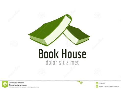 publish house book house roof template logo icon back to school stock vector image 57489098