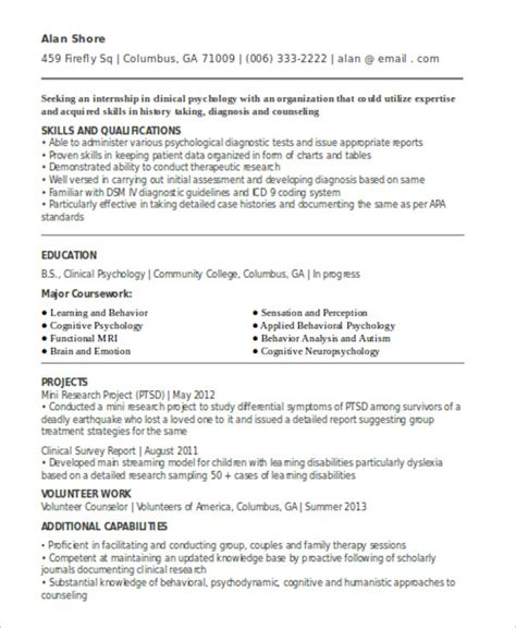 Cv Format For Internship by 10 Internship Curriculum Vitae Templates Pdf Doc